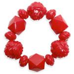 Large Carved Rose Bracelet