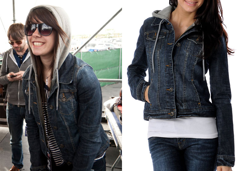Tay Jardine: Hooded Denim Jacket | Steal Her Style