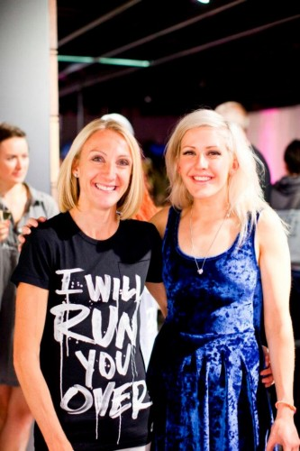 Ellie Goulding and Paula Radcliffe