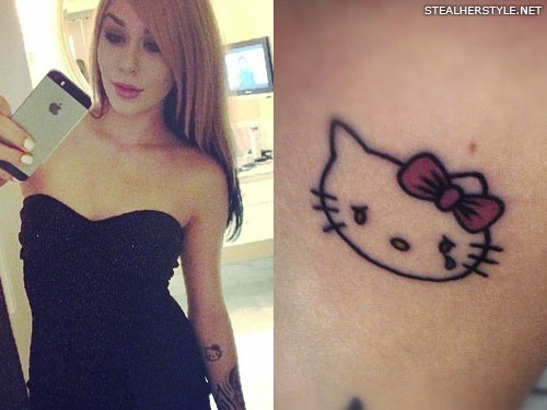 Lexus Amanda Hello Kitty tattoo