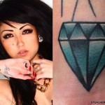 Melissa Marie Green diamond wrist tattoo