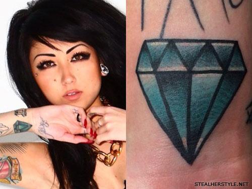 Melissa Marie Green diamond wrist tattoo