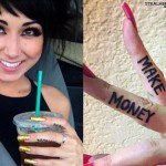 Melissa Marie Green Make Money finger tattoo
