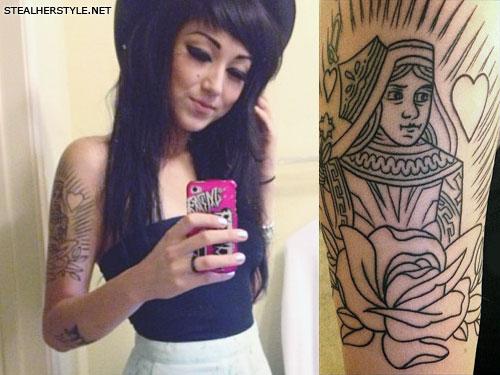 Melissa Marie Green queen arm tattoo