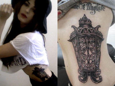 Mermaid Tattoos on Scout Taylor Compton S Tattoos   Steal Her Style