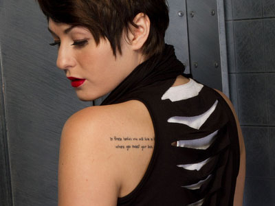 Scout Taylor-Compton Mumford and Sons Tattoo