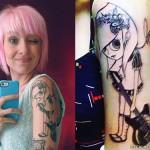 Sherri DuPree-Bemis' guitar girl tattoo