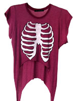 Wildfox Skeleton Slasher tee in Witchberry