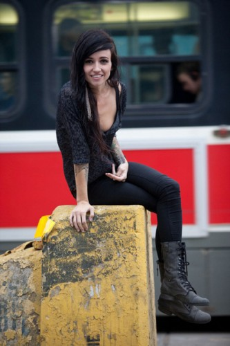 Lights wearing combat boots