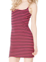 Betsey Johnson Stripe Thermo Bustle Dress