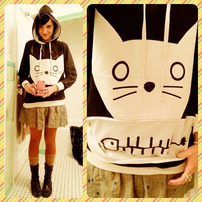 how to make a cat ear hoodie