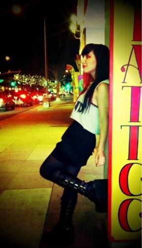 Ash Costello goth boots