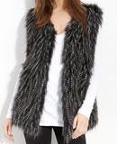 Nordstrom Collection XIIX 'Shaggy' Faux Fur Vest