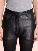 Vintage Re-Made 5-Pocket Leather Shorts