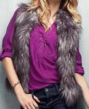 Victoria's Secret Faux Fur Vest