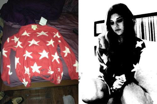 Juliet Simms red star sweater