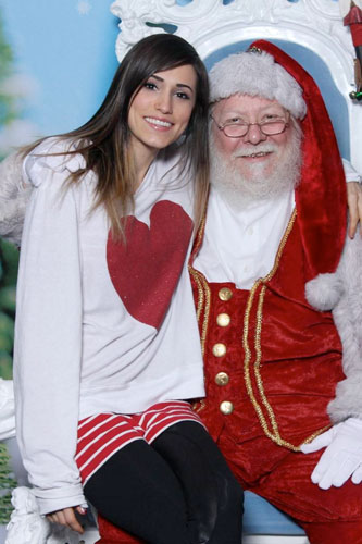Mindy White and santa