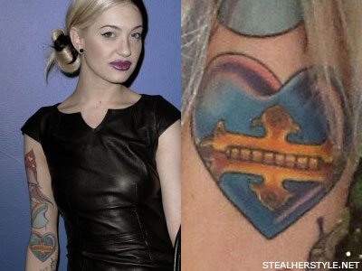 Porcelain Black heart tattoo