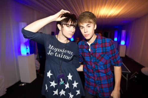 Victoria Asher and Justin Bieber