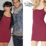 Victoria Asher: Stripe Thermo Bustle Dress
