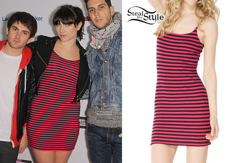 Victoria Asher: Stripe Thermo Bustle Dress