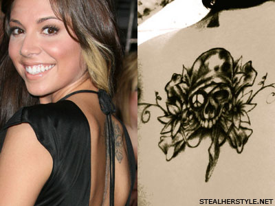 Christina Perri back tattoo