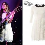 Christina Perri white lace dress