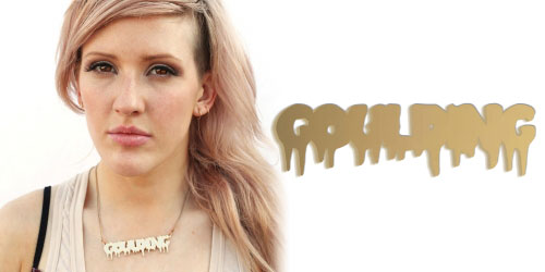 ellie goulding name necklace mirrored Jewellery   The perfect gift