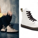 Hayley Williams: White Canvas Dr Martens Boots