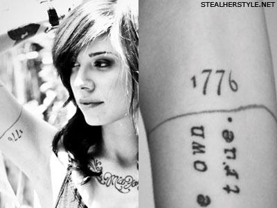 Christina Perri 1776 tattoo