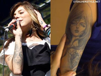 Christina Perri Audrey Kawasaki tattoo
