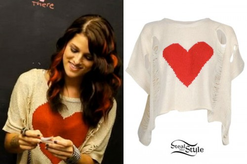 Cassadee Pope: Destroyed Heart Sweater