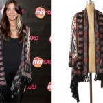 Christina Perri: Draped Paisley Cardigan