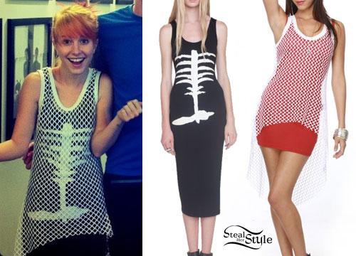 Hayley Williams mesh dress