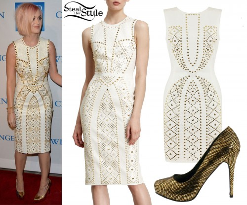 Katy Perry: Studded Shift Dress
