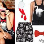 Kreayshaw outfit - earrings, tank top, skirt