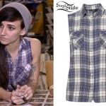 LIGHTS sleeveless plaid shirt