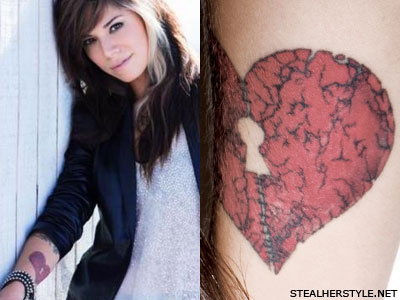Christina Perri broken heart tattoo