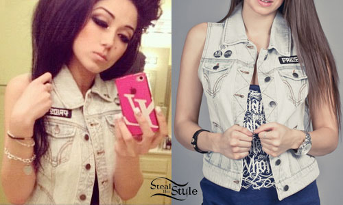 Melissa Marie Green denim vest