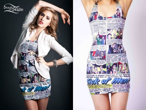 Mindy White comic book dress