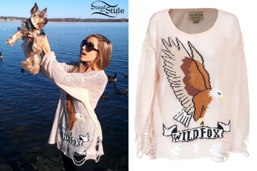 Wildfox White Label Eagle Lennon Sweater