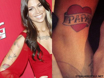 Christina Perri papa tattoo