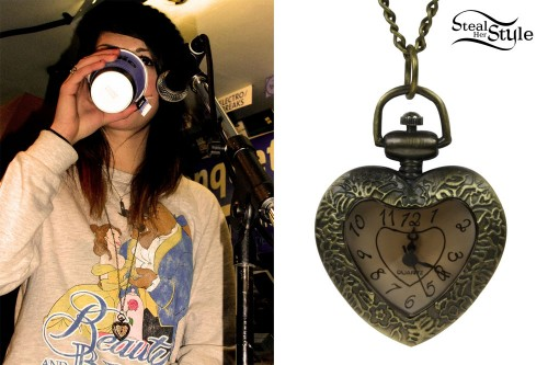 Tay Jardine: Heart Watch Necklace