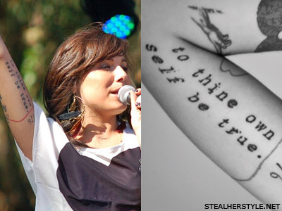 Christina Perri to thine own self be true tattoo