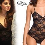 Bebe Rexha: Black Lace Bodysuit