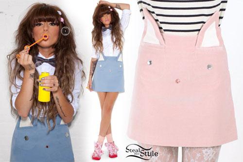 Cher Lloyd: Cat Ear Skirt