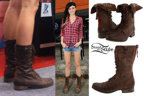 LIGHTS: Brown Combat Boots