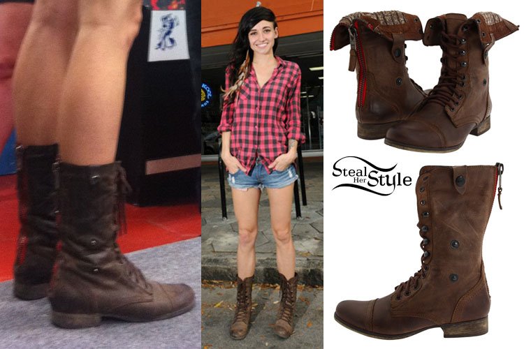 How To Style Brown Combat Boots - Yu Boots