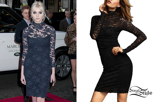 Taylor Momsen: Blue Lace Dress
