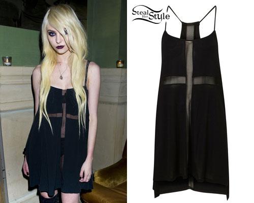 Taylor Momsen: Sheer Cross Dress